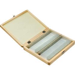 Barska 100 Prepared Microscope Slides with Wooden Case