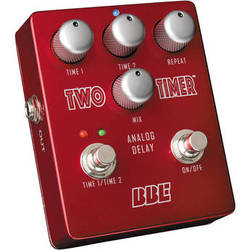 BBE Sound Two Timer Dual Mode Analog Delay Pedal