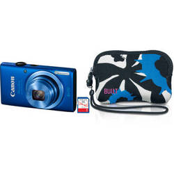 Canon PowerShot ELPH 115 IS Digital Camera Deluxe Kit (Blue)