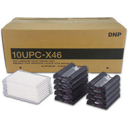 "DNP 4.0 x 6.9"" Self-Laminating Color Print Pack For Sony UP-DX100 (10 Sets)"