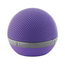 iHome Rechargeable Portable Bluetooth Speaker (Purple)