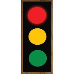 alzatex RYG472AB_OAK Large Red-Yellow-Green Indicator