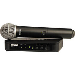 Shure BLX24 Wireless System With PG58 Mic (J10: 584 - 608 MHz)