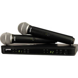 Shure BLX288/PG58 Dual-Transmitter Handheld Wireless System with 2 PG58 Mics (J10: 584 - 608 MHz)