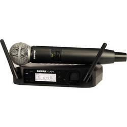 Shure GLXD24/SM58 Handheld Wireless System (Z2 Band: 2400 - 2483.5 MHz)