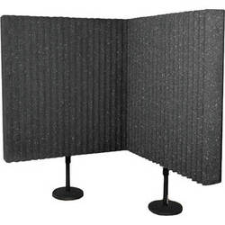 Auralex DeskMAX Stand-Mounted Acoustic Panels (Charcoal Grey, Set of 2)