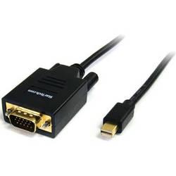 StarTech Mini DisplayPort Male to VGA Male Cable (6', Black)