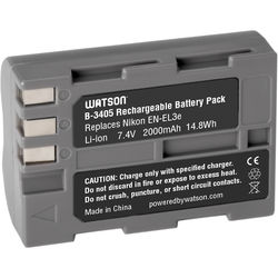 Watson EN-EL3e Lithium-Ion Battery Pack (7.4V, 1450mAh)