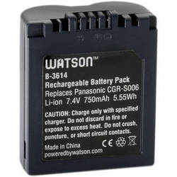 Watson CGR-S006 Lithium-Ion Battery Pack (7.4V, 750 mAh)