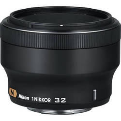 Nikon 1 NIKKOR 32mm f/1.2 Lens (Black)