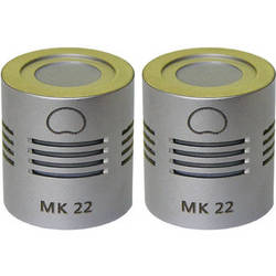 Schoeps MK 22 Microphone Capsule (Matched Pair, Nickel Finish)