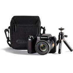 Olympus SP-820UZ iHS Digital Camera Bundle (Black)