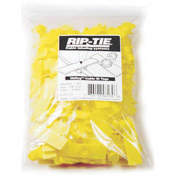 "Rip-Tie Unitag Cable Marker - 0.62 x 2.5"" (100 Pack, Yellow)"