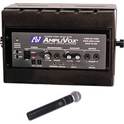 AmpliVox Sound Systems Mity Box 50W 16-Channel UHF Amplified Speaker with Wireless Microphone Kit