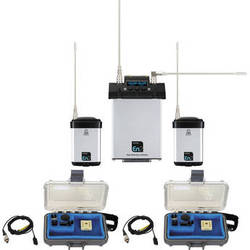 Audio Ltd. Dual miniTX Transmitter and CX2-P Receiver System with VT500 Mics 614 to 654 MHz