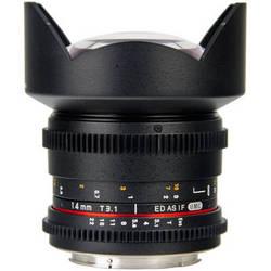 Bower 14mm T3.1 Super Wide-Angle Cine Lens For Sony Alpha Mount Cameras