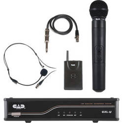 CAD UHF Dual Channel Handheld and Bodypack Wireless Microphone System