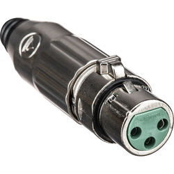 Switchcraft AAA Series 3-Pin XLR Female Cable Mount (Nickel Metal, Silver Pins)