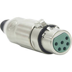 Switchcraft AAA Series 6-Pin XLR Female Cable Mount (Nickel Metal, Silver)