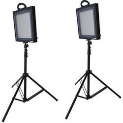 Bescor LED-500K 2 Light Studio Lighting Kit (100-240VAC)