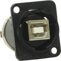 Switchcraft EH Series USB B Female to USBA Female Connector (Black Chrome Finish)