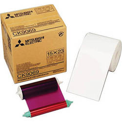 "Mitsubishi 6.0"" Paper Roll and Inksheet"