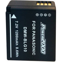 Power2000 DMW-BLG10 Lithium-Ion Battery Pack for Select Panasonic LUMIX Cameras