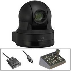Sony EVI-100S HD PTZ Cam w/Telemetrics Remote & RS-232 Cable Kit (Black)