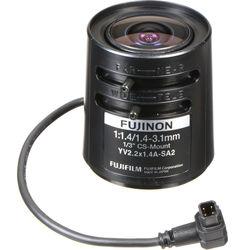 Fujinon YV2.2x1.4A-SA2 CS-Mount 1.4 to 3.1mm Fish-Eye Varifocal Lens for CCTVs