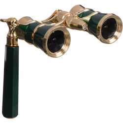 LaScala Optics 3x25 Iolanta Opera Glasses with Flashlight (Green and Gold)