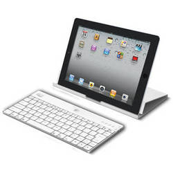 Adesso Aluminum Bluetooth Keyboard with Universal Case Stand (White)