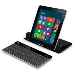 Adesso Aluminum Bluetooth Keyboard with Universal Case Stand (Black)