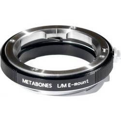 Metabones Leica M Mount Lens to Sony NEX Camera Lens Mount Adapter (Black)