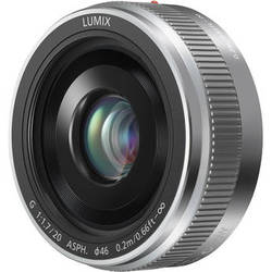 Panasonic LUMIX G 20mm f/1.7 II ASPH. Lens (Silver)