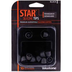 Westone STAR Premium Silicone Eartips (10-Pack, Black)