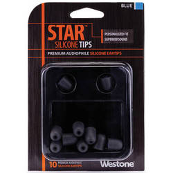 Westone STAR Premium Silicone Eartips (10-Pack, Blue)