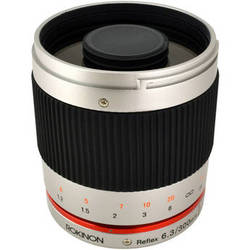 Rokinon Reflex 300mm f/6.3 ED UMC CS Lens for Sony E Mount (Silver)