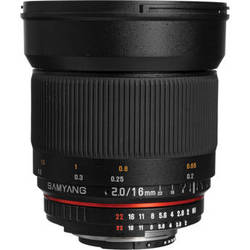 Samyang 16mm f/2.0 ED AS UMC CS Lens for Nikon