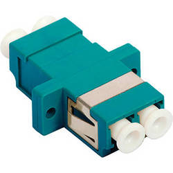 Camplex 10-Gig Multimode Duplex LC to LC Fiber Optic Coupler with Flange