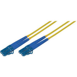 Camplex Duplex LC to Duplex LC Singlemode Fiber Optic Patch Cable (Yellow, 49.21')