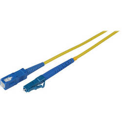 Camplex Simplex LC to SC Singlemode Fiber Optic Patch Cable (Yellow, 9.84')