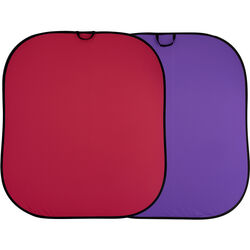 Lastolite Collapsible Reversible Background (6 x 7', Red/Purple)