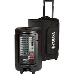 Yamaha Soft Rolling Carry Case for STAGEPAS 600i Portable PA System or 2 MSR100 Powered Speakers (Black)