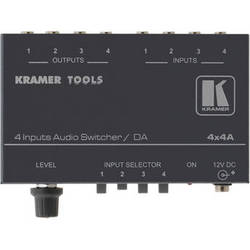 Kramer 4 x 1:4 Stereo Audio Switcher and Distributor