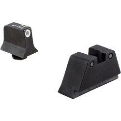 Trijicon Glock Suppressor Night Sight Set with Green Lamp (White/Black)