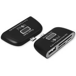 Bidul & Co. 4-In-1 Card Reader for Android Smartphones & Tablets with Micro USB