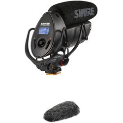 Shure VP83F LensHopper Shotgun Mic with Fur Windjammer Windscreen Kit