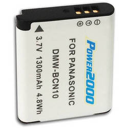 Power2000 DMW-BCN10 Rechargeable Lithium-Ion Battery (3.7V, 1300mAh)