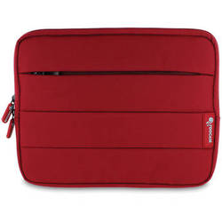 """rooCASE XTREME Super Foam Sleeve Cover for Apple iPad/10.1"""" Tablet (Red)"""