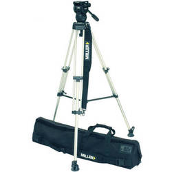 Miller Toggle DV 1-Stage Aluminum Tripod with Compass 12 Fluid Head